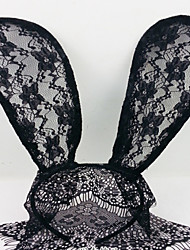 Lace Rabbit Bunny Ears Veil headbands Mask Hair Accessories
