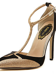 Stiletto - 10-12cm - Damenschuhe - Pumps/Heels Schwarz/Weiß )