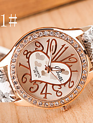 Women's Watches Digital Art Leisure Fashion Watch Pastoral Style Ladies Watch Heart Strap Watch Cool Watches Unique Watches