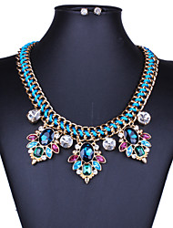 Temperament of restoring ancient ways joker color woven diamond crystal necklace suit sets of chains 0231 #