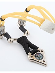 Mad cow alloy slingshot hunting camping outdoor leisure sports belt clip (with a rubber band + Try marbles) CD26