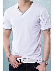 Men's Embellished V Neck Fashion Cotton T-shirt