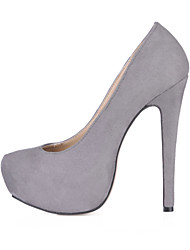 Women's Heels Spring Fall Comfort Velvet Office & Career Party & Evening Dress Stiletto Heel Blue Green Pink Gray Dark Purple