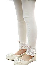 Children Kids Little Girls Korean Cotton Lace Leg Wrapping Leggings Pants