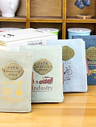 Factory Notebook Stylish Canvas Card Holder (Random Delivery) 20 Cards
