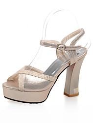 Women's Shoes Chunky Heel/Peep Toe/Platform/Slingback/Ankle Strap/Sandals Dress Gold/Silver/Blue
