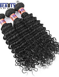 "3 Pcs /Lot 8""-28"" 8A Malaysian  Deep Wave Virgin Human Hair Weft 100% Unprocessed Remy Human Hair Weaves"