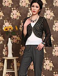 Women's Fashion Hook Flower Lace Short Cardigan