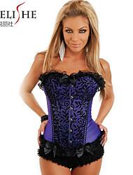 Plus Size Sexy Lace up Boned Corset Halloween Dress Bustier Top Waist Shaper