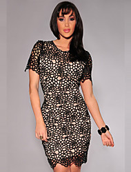 Sexy Plus Size Women Clothing With Three Colors Short Sleeve Novelty Dresses Best Choose Summer Beautiful Women Dress