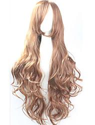 Lattichanimeperücke bunten Perücken langen lockigen Haar Perücke 80 cm
