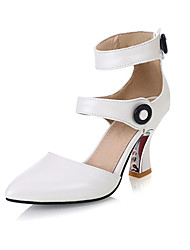 Women's Girl's Heels Summer Fall Leatherette Dress Kitten Heel Buckle Others Pink Red White