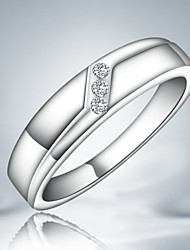 Fashionable women 925 silver plated party wedding ring