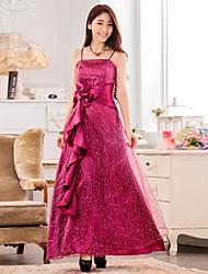 Women's Elegant  Plus Sizes Strapless Beads Bridesmaid Wedding Party Dress