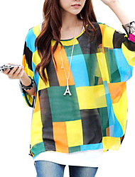Women Pullover Batwing Sleeve Oversize Blouses Tops Clothes