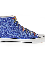 Hand-painted  Shoes Canvas Flat Heel Comfort Fashion Sneakers/Athletic Shoes Outdoor/Athletic/Casual Blue