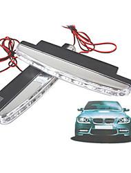 1pair carro auto 5W 8LED dia 480lm aviso luz de freio luz running drl piscando bulbo DC12V branco