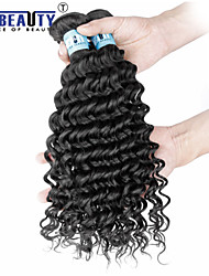 "1Pc /Lot 12""-26"" 5A Peruvian Virgin Hair Deep Wave Human Hair Extensions 100% Unprocessed Peruvian Remy Hair Weaves"