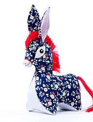 China Hand Embroidery Pendant-To Make High-quality Goods The Little Donkey(Blue)