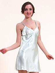 WEST BIKING® Women's Nighties Sexy Hollow Out Rayon Minidress Pure Color Double Braces Chiffons Sleep Dress