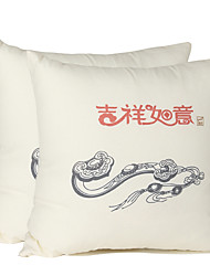 Upscale Home Chinese Throw Pillows Cushion Good Luck Pack of One Pair