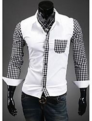 High-Quality Chinese Style Mens Shirts Fashion 2015 Long-Sleeve Shirt