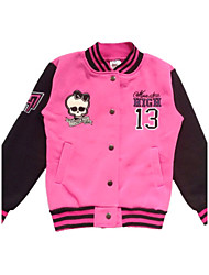 BHL Retailed Kid Girl Monster High Skull Printed  Spring & Autumn Pink Coat /Jacket Outer Wear For SZ 6~10Years