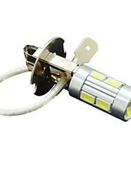 h3 5W 10led 430lm 6500-7500k 5730 SMD bil auto vrida lampa signallampa dimljus vit 12v