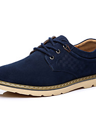 Men's Spring / Fall / Winter Suede Outdoor / Office & Career / Casual / Party & Evening Flat Heel Blue / Yellow / Navy