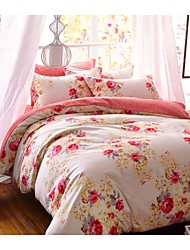 Bedtoppings Microfiber with transfer prints Duvet Cover 4PCS Set
