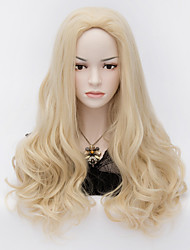 The European And American Wind Beauty Tip Shape Pale Gold Curly Hair Wig