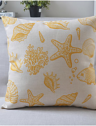 Modern Style Sea Life Cotton/Linen Decorative Pillow Cover