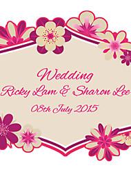 Personalized Wedding Tags Address Labels Envelope Sticker Flower Contour Cut Pattern Of Filmed Paper