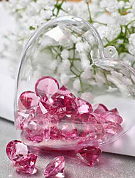 Clear Plastic Acrylic Fillable Heart Ornament 80mm - Pack of 5
