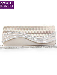 AIKEWEILI®Women's Evening Bag Fashion Genuine Silk Drape Clutch Bag Casual All-Match Wedding Party Bags