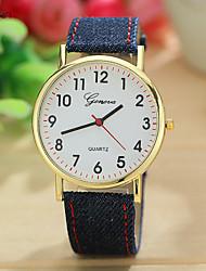 Mulheres Relógio de Moda Quartz Couro Banda Relógio de Pulso Verde