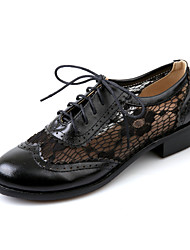 Черный / Коричневый / Миндальный - Женская обувь - Для офиса / Для праздника / На каждый день - Дерматин - На толстом каблуке -С круглым
