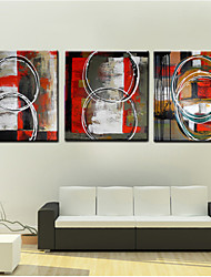 Oil Painting Decoration Abstract  Hand Painted Canvas with Stretched Framed - Set of 3