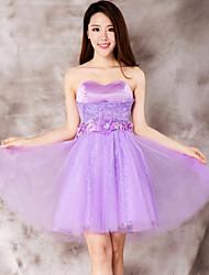 Dress - Purple Ball Gown Sweetheart Short/Mini Lace