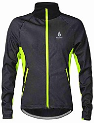 WOLFBIKE Cycling Jacket Men's Bike Jacket Sweatshirt Windbreakers Fleece Jackets TopsThermal / Warm Windproof Fleece Lining Lightweight