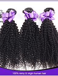 malaisien 100g de cheveux couleur naturelle vierges malaisiens cheveux bouclés 3 pcs 7a malaisien cheveux crépus bouclés pas cher