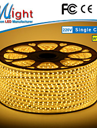 Mlight 10 M 72 leds/m 5050 SMD Bianco caldo/Bianco Impermeabile/Accorciabile 3 W Strisce luminose LED flessibili AC110-220 V