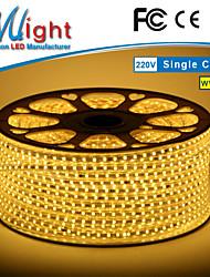 Mlight 10 M 72 leds/m 5050 SMD Warmweiß/Weiß Wasserdicht/Schneidbar 3 W Flexible LED-Leuchtstreifen AC110-220 V