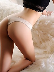 Women's Sexy Low Waist Lace Carving T Panty T-back with Diamond Ornament