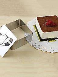 Ferramenta 3''mousse conjunto de anel mousse cúbico com bolo de empurrar queijo molde de aço inoxidável