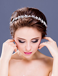 Women's Flower Girl's Rhinestone Alloy Headpiece-Wedding Special Occasion Casual Tiaras Headbands 1 Piece