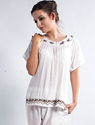 Songmei Summer Household To Take  Mother  Pajamas Short-Sleeved Summer Old Suit