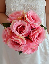"Wedding Bouquet 7 Colors Silk France Rose Bouquet 8.66"" (More Colors)"