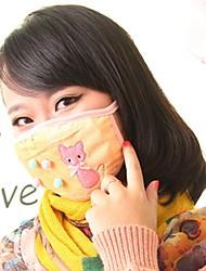 Lovely Kitty Pattern Fleece Anti-Dust Winter Thermal Adult Respirator Face Masks Health Gauze Mask (Random Color)