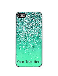 Personalized Gift Green Sand Design Aluminum Hard Case for iPhone 5/5S